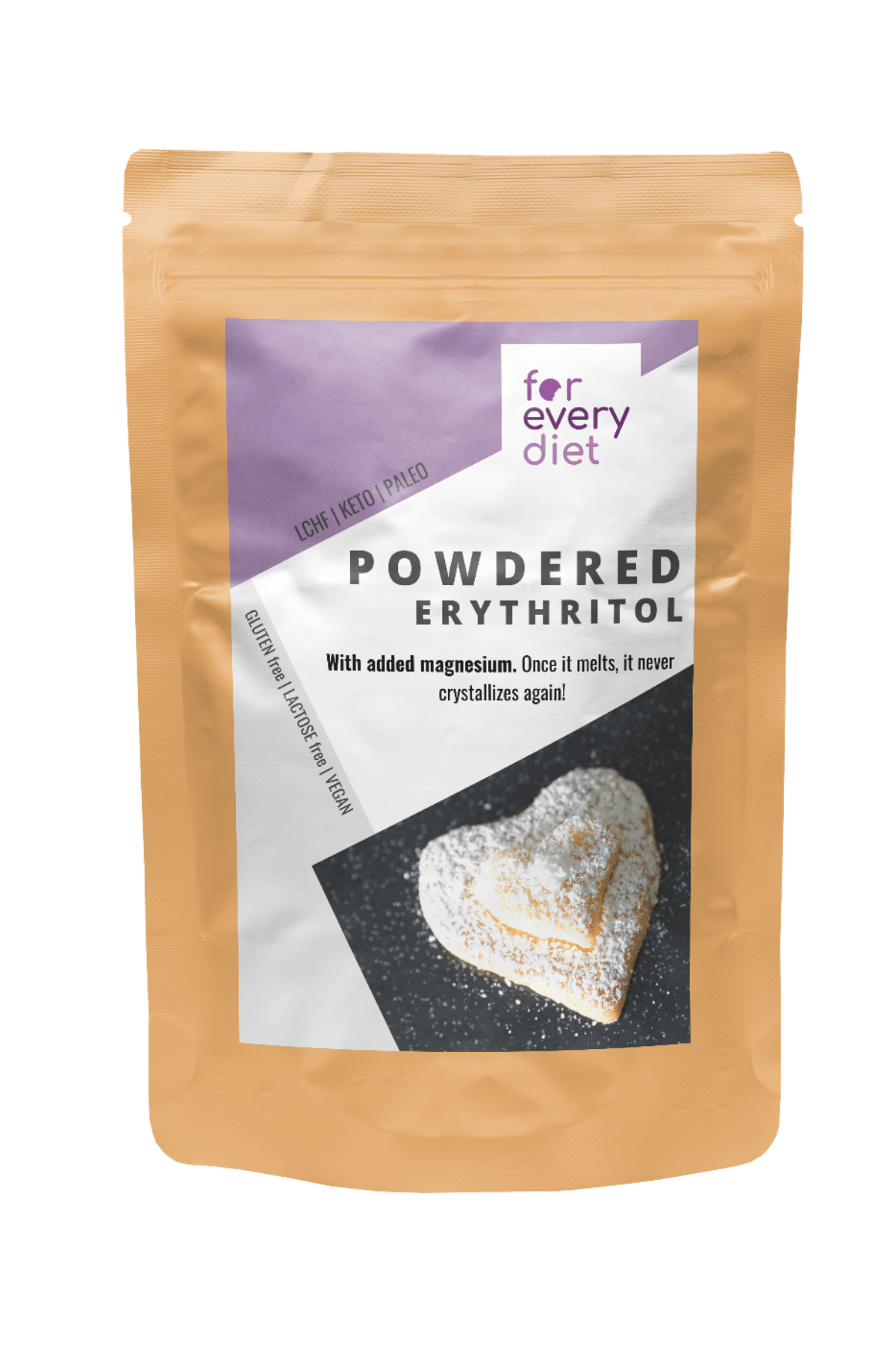 POWDERED ERYTHRITOL with magnesium - Natural sweetener